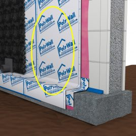 Poly Wall® Home Stretch™ ICF Waterproofing Membrane
