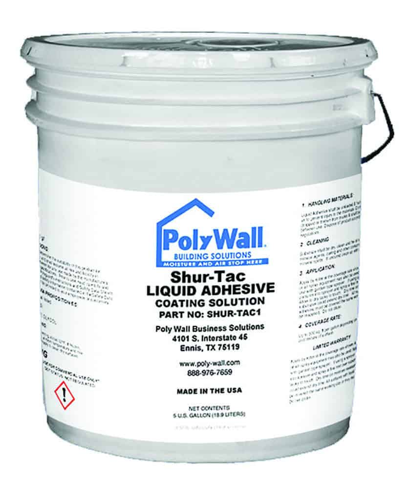Poly Wall® ShurTac™ Liquid Adhesive Waterproofing