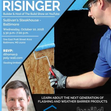 Meet Matt Risinger of The Build Show in Baltimore – October 10